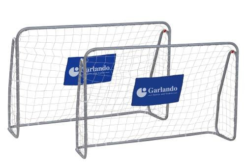 Garlando Set Porta da Calcio x2 Kick & Rush Cm. 215X152 Argento