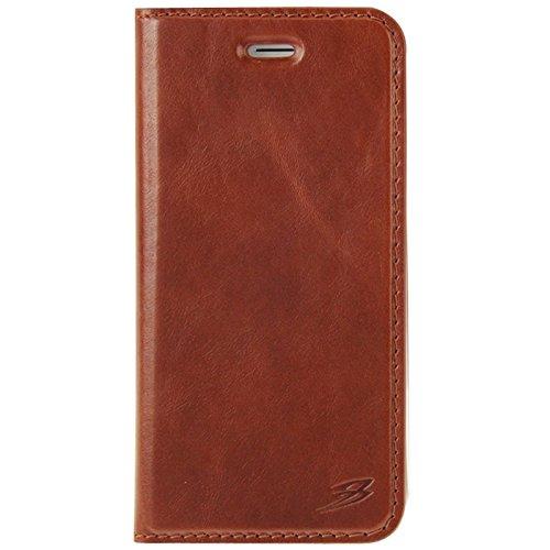 Wkae Case Cover FADDIST Gewachste echte Kuh-Schlag-Leder-Kasten mit Halter & Karten-Slot für iPhone 6 & 6S ( Color : Red ) Coffee