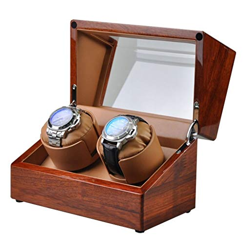 WCX Cajas Giratorias 2 Relojes Motor Silencioso Laca
