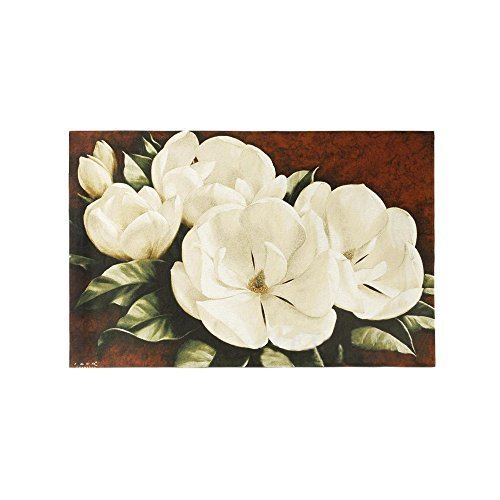 Magnolia Crimson Cotton Wall Hanging by Fine Art Tapestries - Fine Art Tapestry Wall Hanging
