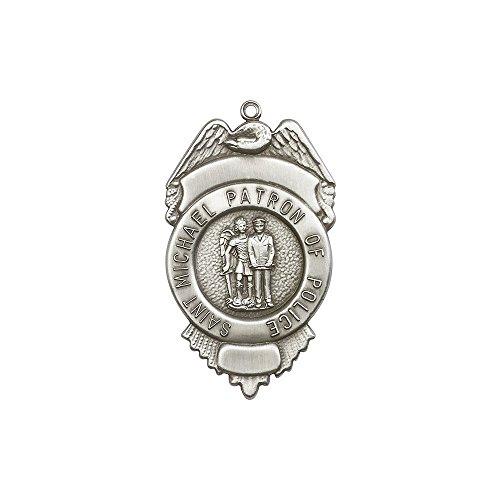 F A Dumont Church Supplies Antik Silber Erzengel St. Michael Schlüsselanhänger mit Luxus-Geschenkbox.