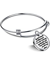 Expandable Bangle Bracelet - Good friends are like stars don't always see them but they are always there