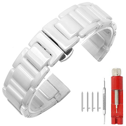 Kai Tian - -Armbanduhr- KTUK-20WE-CE-UK (Keramik-uhr-band 20mm Weiße)
