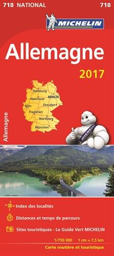 Carte Allemagne Michelin 2017