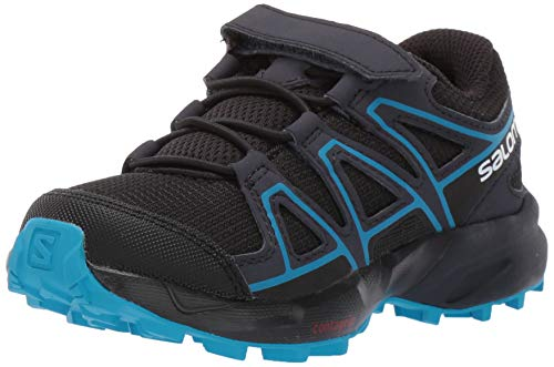 Salomon Speedcross Bungee K, Zapatillas de Trail Running Unisex Niños, Negro/Azul Black/Graphite/Hawaiian...