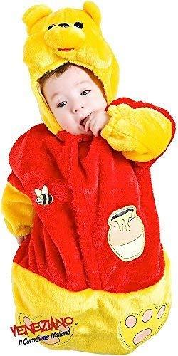Kostüm Bär Schlafsack - Italienischer Baby Jungen Mädchen Gelb Furry Bär Karton Schlafen Sack Tasche Buch Verkleidung Kostüm Kleidung 0-3 Monate