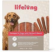 Marchio Amazon - Lifelong - Snack per cani: Salsicce Hot Dog pollo e bacon , carne di qualità (440 gr, 8 pezzi
