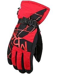 Los guantes calientes guantes y cómoda Otoño e invierno guantes calientes hombres que viajaban engrosamiento Puntos Guantes Guantes Los estudiantes fría Esquí jóvenes ( Color : Rojo )