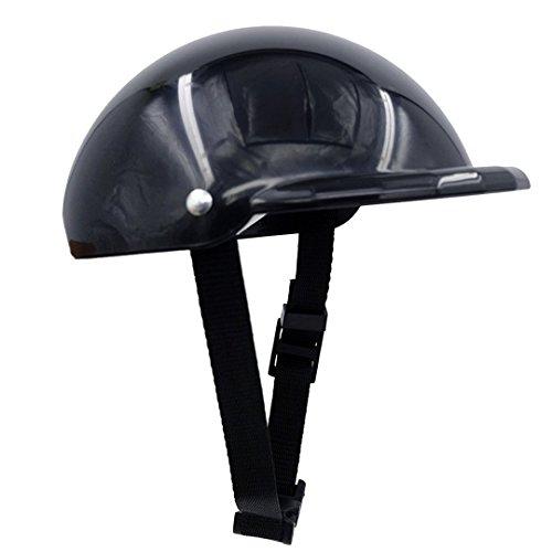 gorgester Pet Hund Helmet Cap Hat ABS Kunststoff Hund Puppy Riding Motorräder Bike Helm Sonne Regen Schutz für kleine Haustiere (Et Costume Bike)