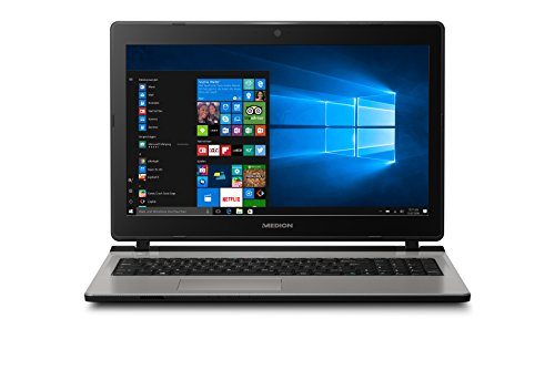 Medion Akoya E6432 39,6 cm (15,6 Zoll Full HD mattes Display) Multimedia Notebook (Intel Core i3-6157U mit 3M Cache, 2.40 GHz, 6GB RAM, 1TB HDD, 128GB SSD, Intel IRIS Grafik 550, Win 10 Home) silber