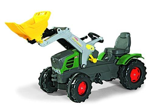 *Rolly Toys 611058 Trettraktor Farmtrac Fendt 211 Vario inklusive Frontlader Trac Lader, mit Kettenantrieb, Flüsterreifen, verstellbarer Sitz (für Kinder ab 3 Jahren, TÜV/GS geprüft*