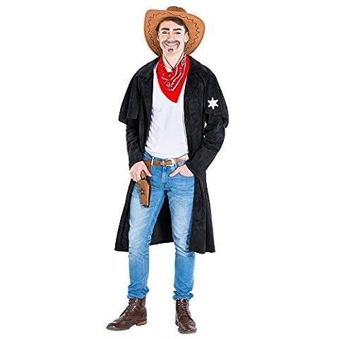 Déguisement pour homme cowboy   Trench + foulard   western shérif costume (XL   no. 300572)
