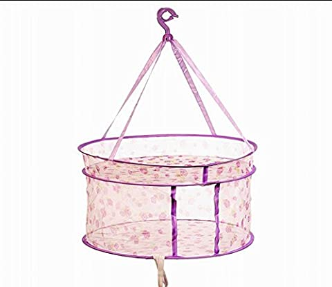 2 Tier Vêtements Chandail Etendoir / Net Outdoor Hanging séchage Basket, 24 ''