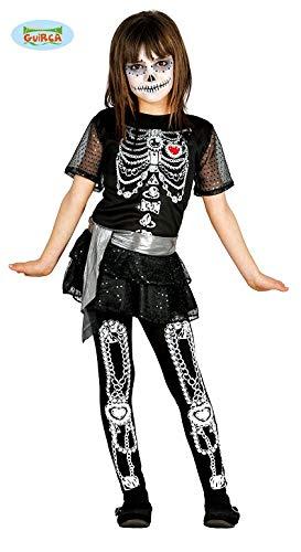 Guirca mexikanisches Skelett Mädchen Kostüm für Halloween Skelettkostüm -