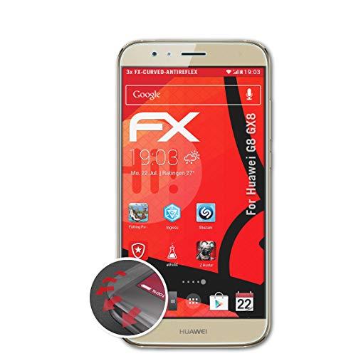 atFolix Schutzfolie passend für Huawei G8 GX8 / G7 Plus Folie, entspiegelnde & Flexible FX Bildschirmschutzfolie (3X)