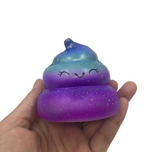 Mini Squishies Kawaii,bobo4818 Kawaii Spielzeug Cartoon-Optik, weich, bunt (B)7cm*7cm*6cm