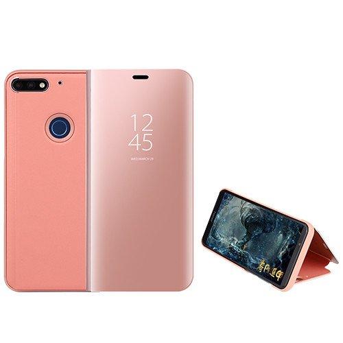 Custodia® Espejo Chapado Transparente View Stand Función Flip Funda para Xiaomi Mi 8 Lite/Xiaomi Mi 8 Youth/Xiaomi Mi 8X (Oro Rosa)
