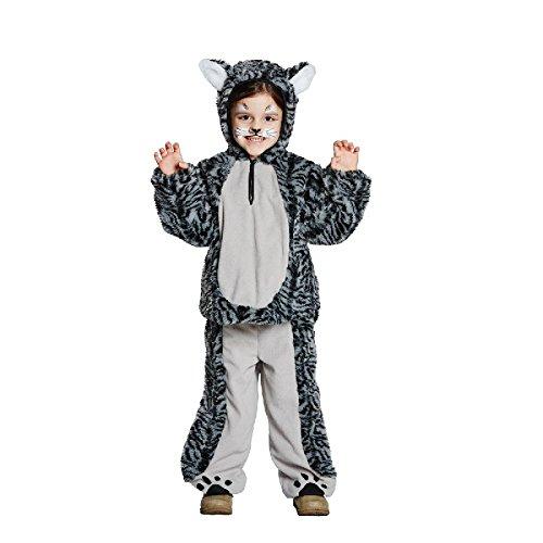 Tigerkatze Kinder Kostüm Tiger Katze zu Karneval Fasching -