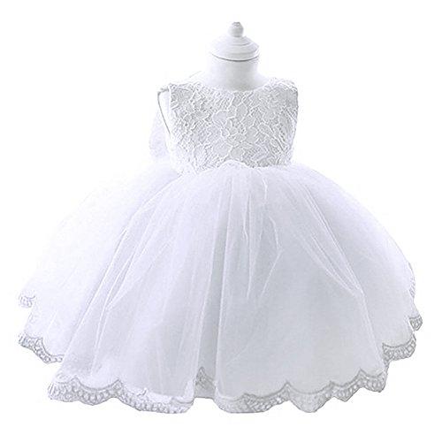 Tiaobug Baby Mädchen Kleid Blumen Spitze Taufkleid Festlich Kleid Blumenmädchen Prinzessin Kleid...