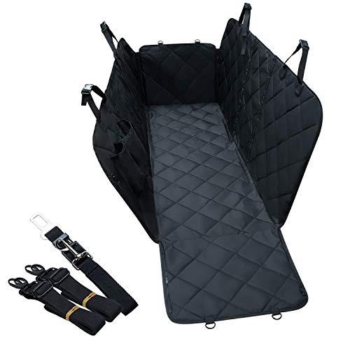 Lychee Hundedecke Auto Rückbank/Hunde Autoschondecke Kofferraum mit Seitenschutz,Kofferraumdecke für Hunde Wasserdichter waschbar, 137x147cm, für PKW-LKW Van und SUV