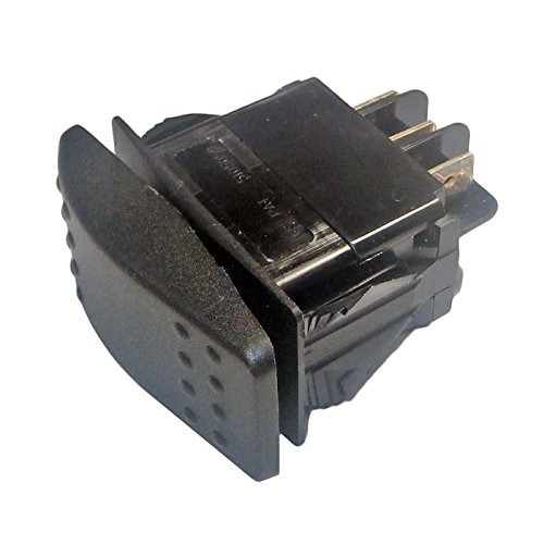 Rv Rocker Switches (Generac 0D4767 OEM RV Guardian Generator Main On-Off Rocker Switch DPDT Spade - Ultra-Source 004582 Compatible - Power System Replacement Part)