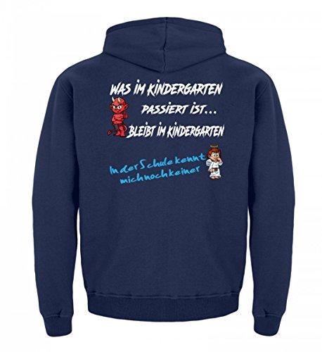 Hochwertiger Kinder Hoodie - Einschulungs Shirt für Jungen & Mädchen, Engel Teufel | Einschulung |Kindergartenabschluss