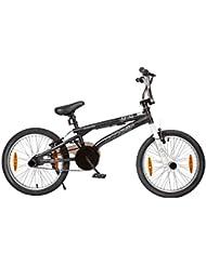 """LA - Bicicleta Bmx de 28 cm, rueda de 20"""", color negro"""