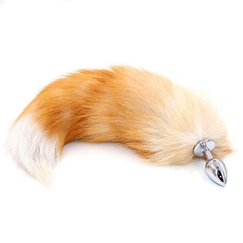 SAFE TO USE Bunny B tt Tail Plug Anaacutel Plug con Big Real Crystal Fox Tails Metal B tt Plug...