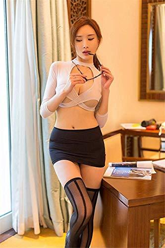 ZTLINGERIE Cosplay Reizvolle Wäsche-Frauen-Heiße Exotische Unterwäsche Sexy Outfit Lehrer Secretary Uniform Versuchung Rolle Sex Kleidung Set Spielen