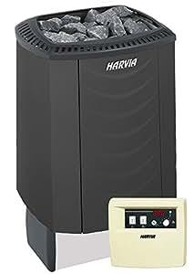 HARVIA SOUND Saunaofen Komplettset - M45E 4,5 kW mit C90 Steuergerät, Farbe: Schwarz