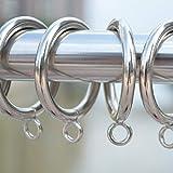 Gardinenringe, 38 mm Metallhaken, Clips zum Aufhängen, Duschvorhang, Gardinenstange, Voile-Netz mit festen Ösen