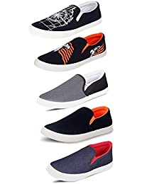 Tempo Men's Combo Pack of 5 Loafers & Moccasins