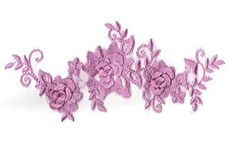 craftuneed Eine Lila Violett Double Layered Floral Spitze Aufnäher Flieder Lila Floral Tüll Spitze Motiv Pro Stück Kostenlose UK PP Schnelle Versand - Floral Layered
