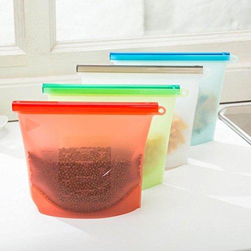 olayer 4Stück Silikon-Speicher für Home Food Kitchen Organisation Gadgets Kochen Tools