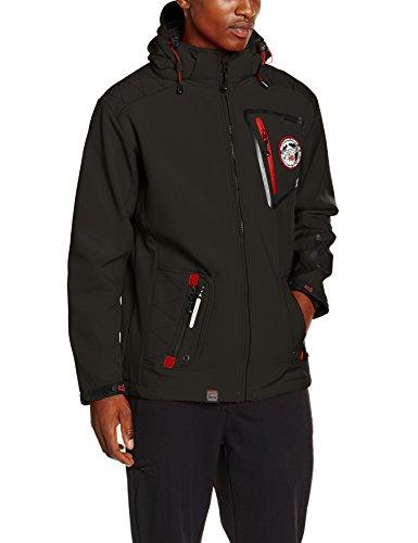 Geographical Norway Herren Telepherique Softshell Funktions Outdoor Jacke wasserabweisend , Schwarz (Black) , XL