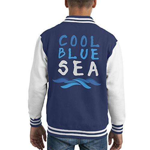 Cool Blue Sea Slogan Kid's Varsity Jacket Snorkle Jacket