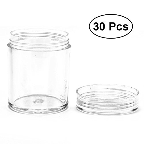 5d515be23db6 ULTNICE 30Pcs Clear Empty Jars Plastic Refillable Storage Containers for  Cosmetic Lotion Pot Food