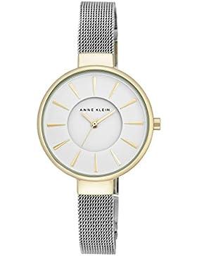 Anne Klein AK/N2443WTTT Damen-Quarzarmbanduhr Maya mit weißem Zifferblatt, Analoganzeige und Armband aus Silberlegierung