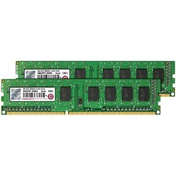 Transcend Arbeitsspeicher 4GB Dual Channel Kit 2x 2GB DDR3 1333MHz PC3-10600 CL9 DIMM (240-PIN, für Desktops-PCs)