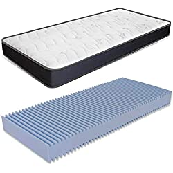 Matelas Simple 90x190 H 13 en Mousse Waterfoam orthopédique et avec Dispositif médical Modèle Summit