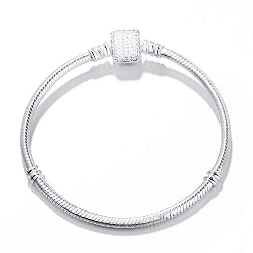 er Versilbert 17-21 cm Link Armband Fit Original Charms Schlangenkette Pandora Bracelet & Bangle Für Frauen DIY Edlen Schmuck ()