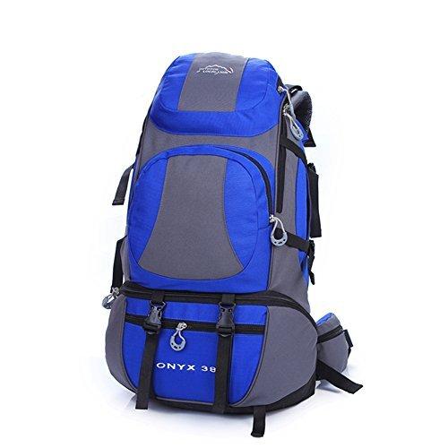 Diamond Candy Zaino da Trekking Outdoor Donna e Uomo con Protezione Impermeabile per alpinismo arrampicata equitazione ad Alta Capacitš€ borsa da viaggio,Multifunzione, 38 litri Blu reale