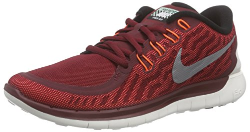 Nike Free 5.0 Flash, Chaussures de course homme Rouge - Rot (Team Red/Rflct Slvr-Hypr Orng)