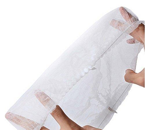 100PCS Einweg Vlies Haare Net Gap leichter Krankenschwester Baretthaube Haarnetz Zurückhaltung Labs Krankenhäuser Medizinisches Lebensmittel Service Elastic Kostenlose Größe weiß (Stirnband Medizinische)