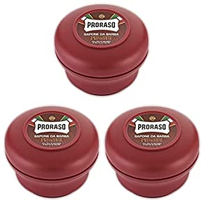 Proraso 3 er Pack Proraso Red Rasierseife Nourish – Proraso Shaving Soap Nourish Tiegel 150ml