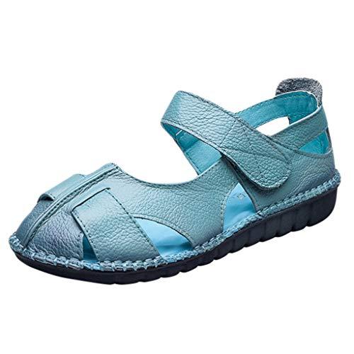 Halbschuhe für Damen/Dorical Frauen Mokassin Bootsschuhe PU Loafers Fahren Flache Schuhe Slippers,Erbsenschuhe,Party Schuhe,Klassische Damenschuhe 35-42 EU Ausverkauf(Blau,38 EU)
