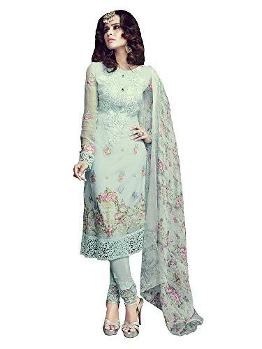 Applecreation Women\'S Georgette Dress Material (Sea Green_Free Size)