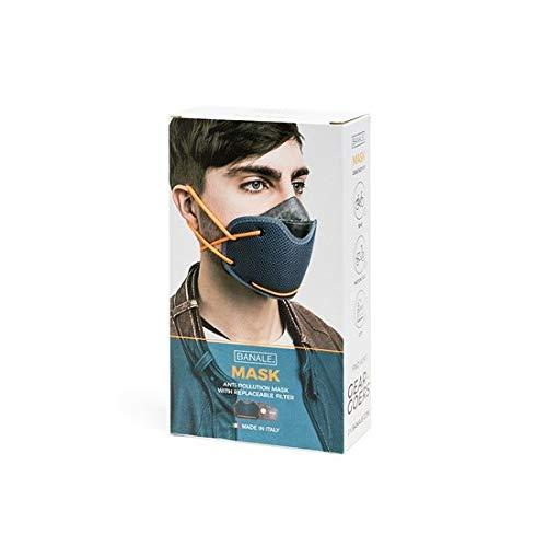 Maschera Antismog by Banale | Filtro a Carboni Attivi, Protezione Garantita da Inquinamento, PM2.5, PM10, Polvere Polline Batteri | Mascherina Antipolvere Comoda e Portatile per Bici, Moto e Città