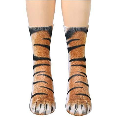 Animalier Strümpfe für Kostüm Cosplay 3D Sublimato Nachdruck lustige Socken ()