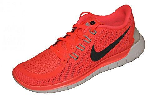 Nike Free 5.0, Chaussures de Running Femme Arancione (Orange (hot lava/black/tumbled grey))